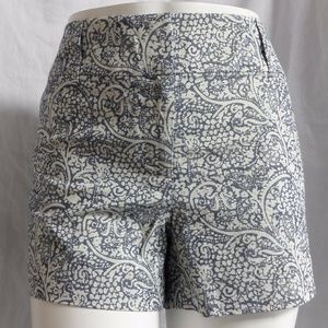 BLUE & WHITE PAISLEY  CASUAL CITY MODERN SHORTS